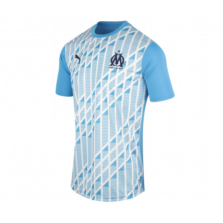 Maillot avant match OM bleu 2020/21