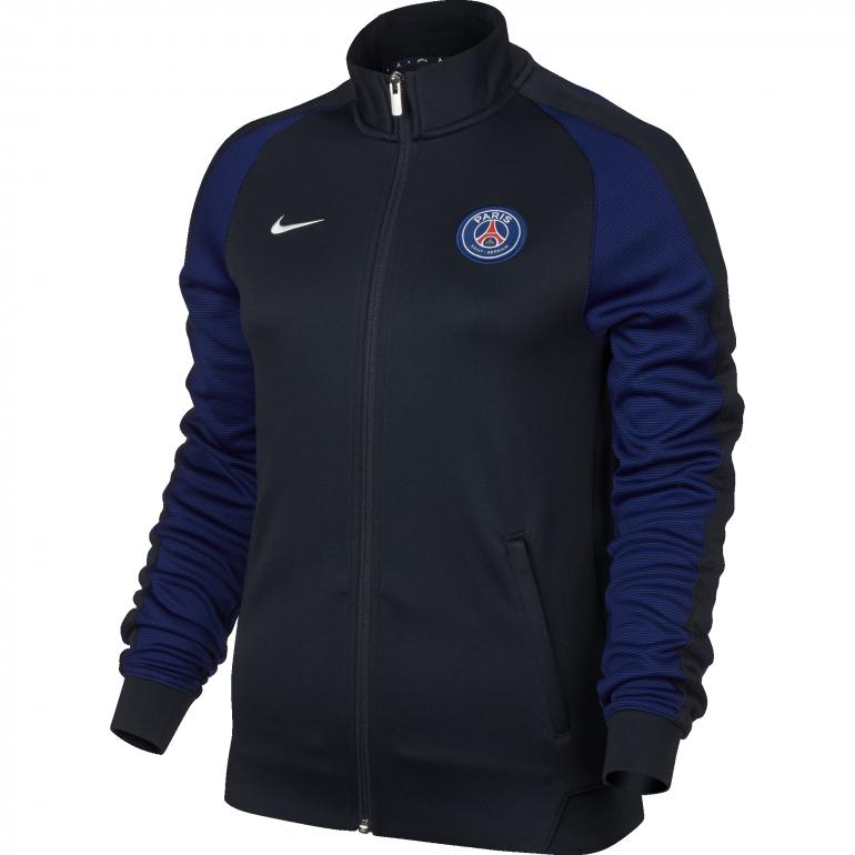 Veste survêtement PSG femme N98 bleue 2016 - 2017