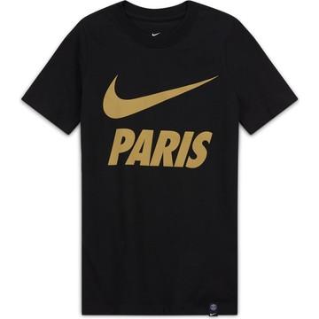T-shirt junior PSG noir or 2020/21