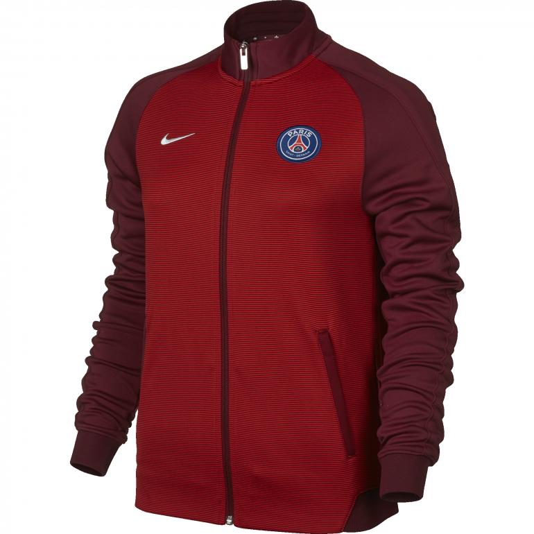 Veste survêtement PSG femme N98 rouge 2016 - 2017