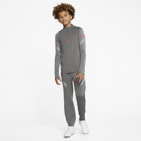 Sweat zippé junior Nike Strike gris