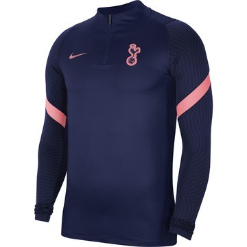 Sweat zippé Tottenham bleu rose 2020/21