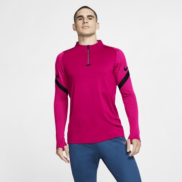 Sweat zippé Nike Strike rose noir