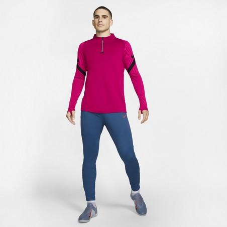 Sweat zippé Nike Strike rose noir
