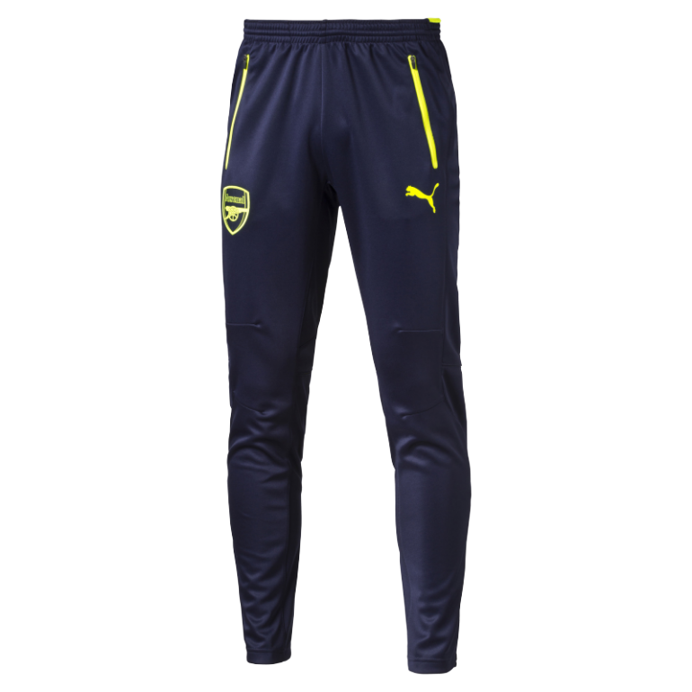 Pantalon survêtement Arsenal junior bleu liseret jaune 2016 - 2017