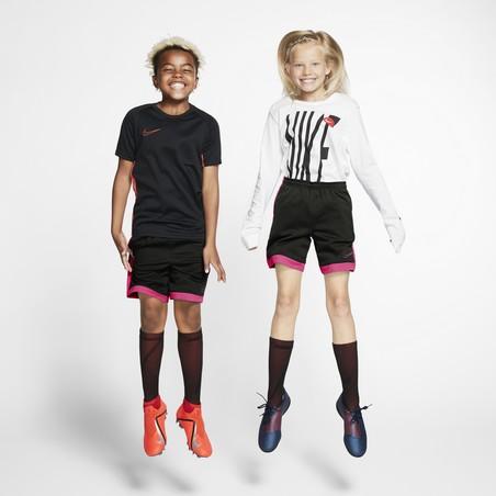 Short entraînement junior Nike Academy noir rose