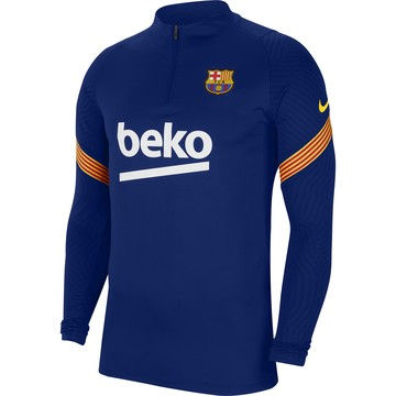 Sweat zippé FC Barcelone Strike bleu 2020/21