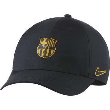 Casquette junior FC Barcelone noir jaune 2020/21