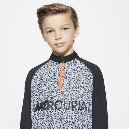 Sweat zippé Nike CR7 junior gris orange