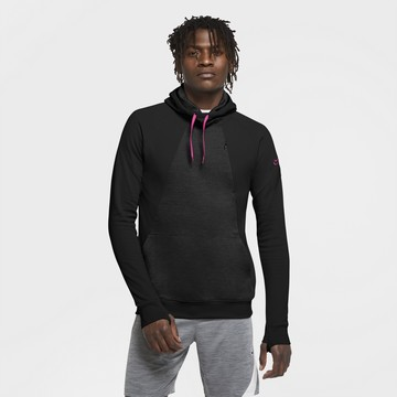 Sweat à capuche Nike noir rose