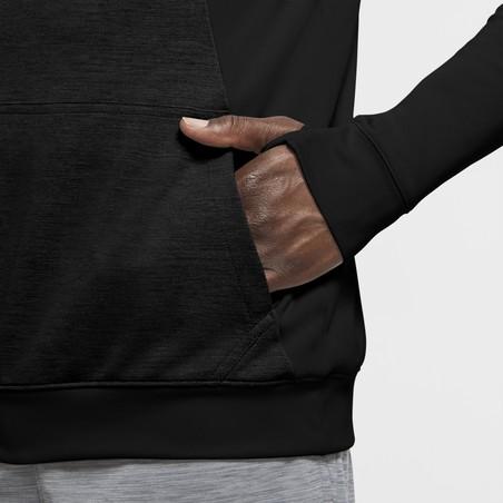 Sweat à capuche Nike noir rose