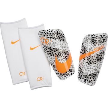 Protège tibias Nike CR7 Mercurial blanc orange