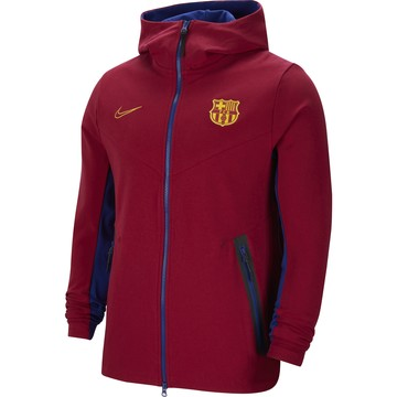 Veste survêtement FC Barcelone TechFleece rouge 2020/21