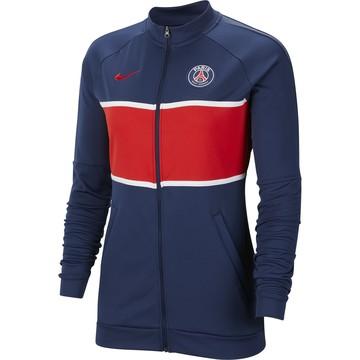 Veste survêtement Femme PSG I96 Anthem bleu rouge 2020/21