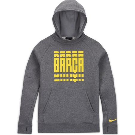 Sweat à capuche junior FC Barcelone gris 2020/21