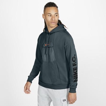 Sweat à capuche Nike gris