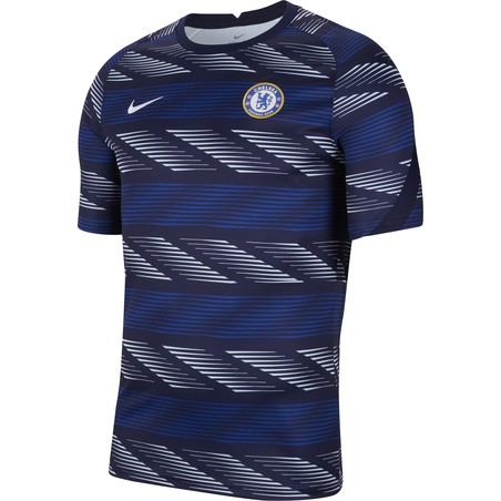 Maillot avant match Chelsea bleu blanc 2020/21