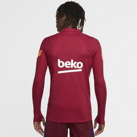 Sweat zippé FC Barcelone VaporKnit rouge 2020/21