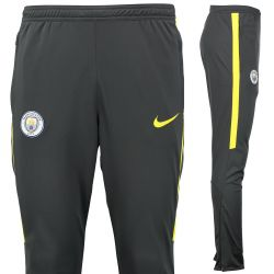Pantalon survêtement training Manchester City noir bandes jaunes 2016 - 2017