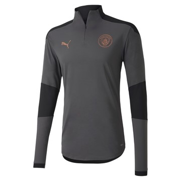 Sweat zippé Manchester City gris cuivre 2020/21