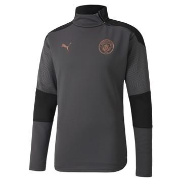 Sweat zippé Manchester City Fleece gris cuivre 2020/21
