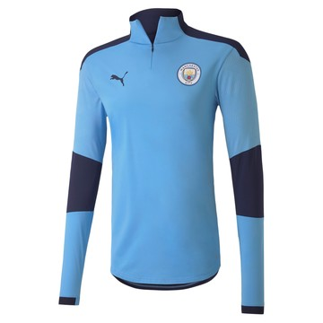 Sweat zippé Manchester City bleu 2020/21