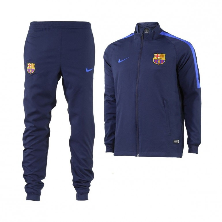 Ensemble Survêtement Training FC Barcelone total bleu 2016 - 2017