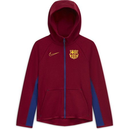 Veste survêtement junior FC Barcelone TechFleece rouge 2020/21