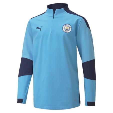 Sweat zippé junior Manchester City bleu 2020/21
