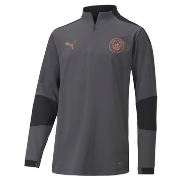 Sweat zippé junior Manchester City gris cuivre 2020/21