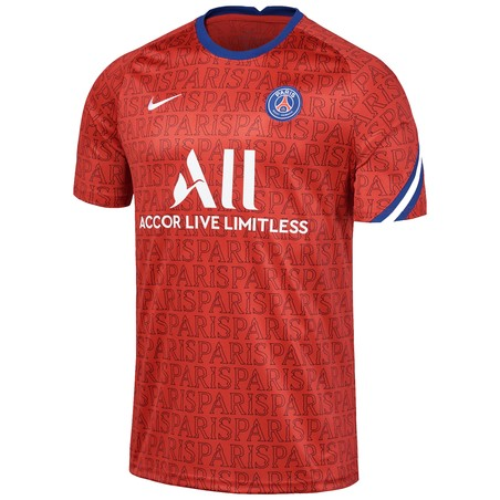 Maillot avant match junior PSG rouge 2020/21
