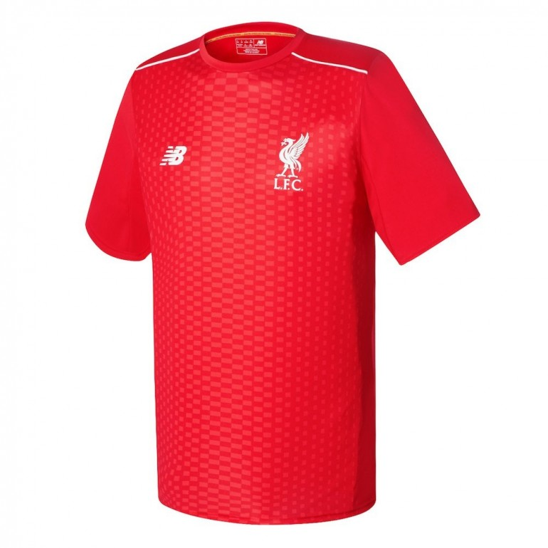 Maillot avant-match Liverpool rouge 2016 - 2017