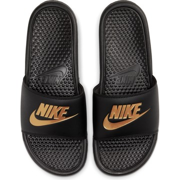 Sandalles Nike Benassi noir or