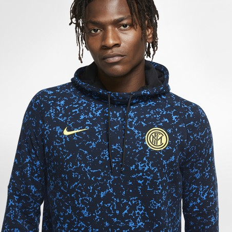 Sweat à capuche Inter Milan bleu noir 2020/21