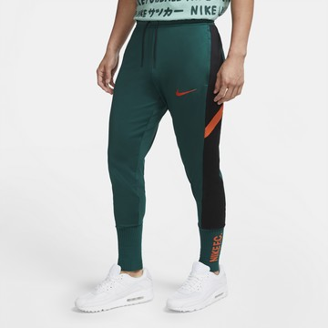Pantalon survêtement Nike F.C. vert orange
