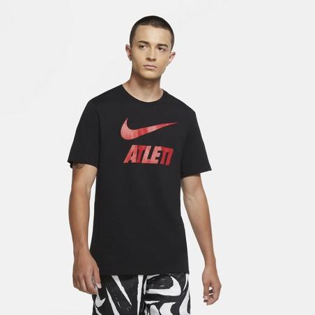 T-shirt Atlético Madrid noir rouge 2020/21