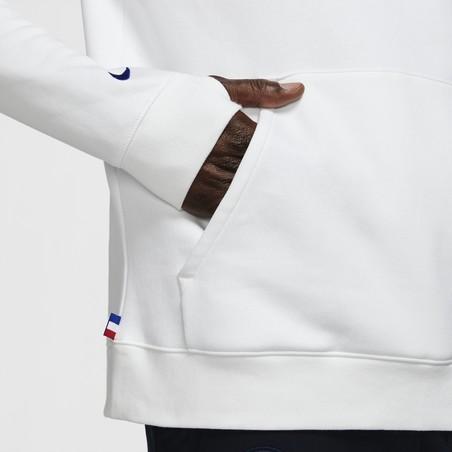 Sweat à capuche PSG blanc 2020/21