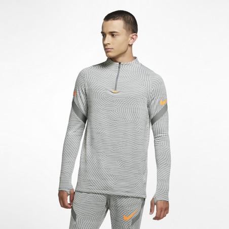 Sweat zippé Nike Strike gris