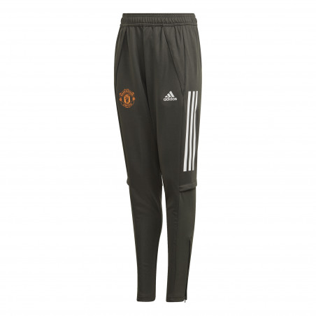 Pantalon survêtement junior Manchester United vert orange 2020/21