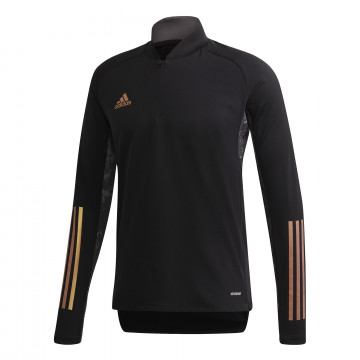 Sweat zippé adidas noir or