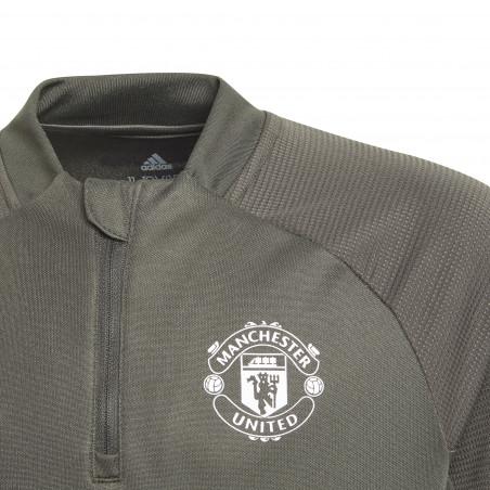 Sweat zippé junior Manchester United vert orange 2020/21