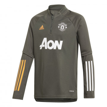Sweat zippé junior Manchester United vert orange 2020/21
