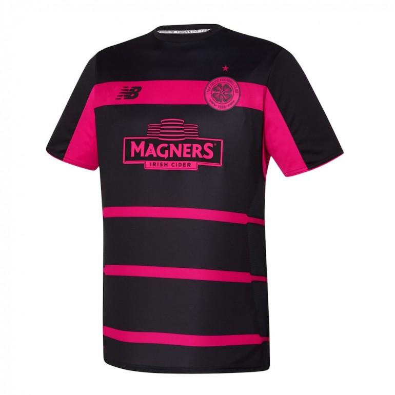Maillot avant-match Celtic Glasgow noir et rose 2016 - 2017