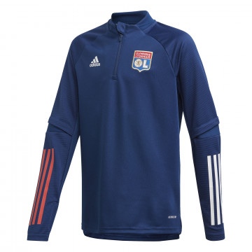 Sweat zippé junior OL bleu 2020/21