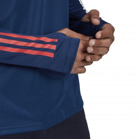 Sweat zippé OL bleu 2020/21