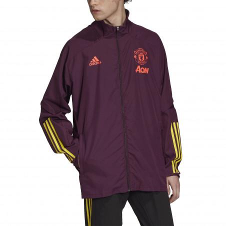 Veste entraînement Manchester United violet 2020/21