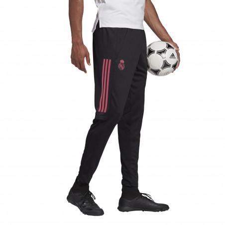 Pantalon survêtement Real Madrid noir rose 2020/21