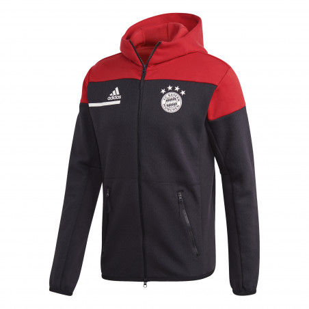 Veste survêtement Bayern Munich ZNE noir rouge 2020/21
