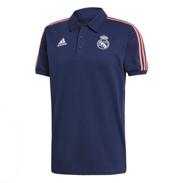 Polo Real Madrid bleu rose 2020/21