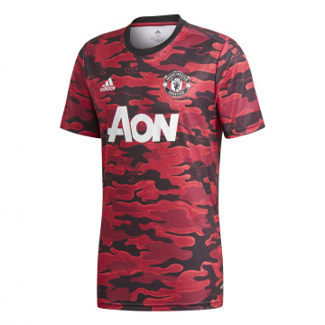 Maillot avant match Manchester United rouge 2020/21
